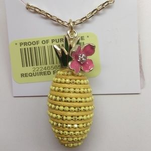 BetseyJohnson New Yellow Vase with Flower Earrings